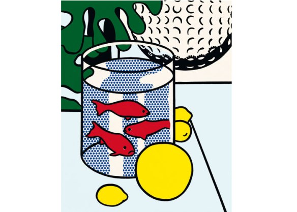 Still-life-with-goldfish-1986-Roy-Lichtenstein