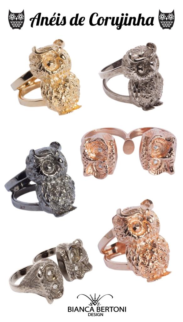 anéis de coruja corujinha verão 2014