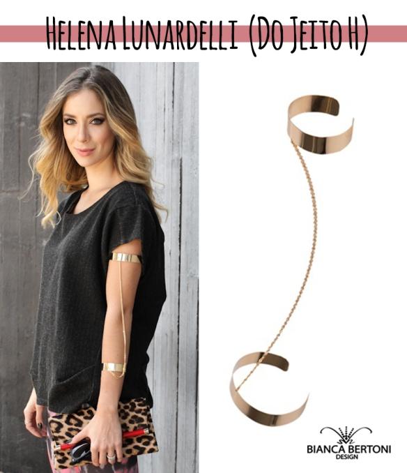 Helena Lunardelli usando Arm Cuff Bianca Bertoni